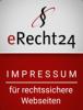 Logo von eRecht24 zu rechtssicherem Impressum