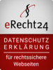 Logo von eRecht24 zu rechtssicherer Datenschutzerklärung